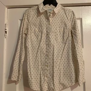 Small anchor old navy white button up dress work